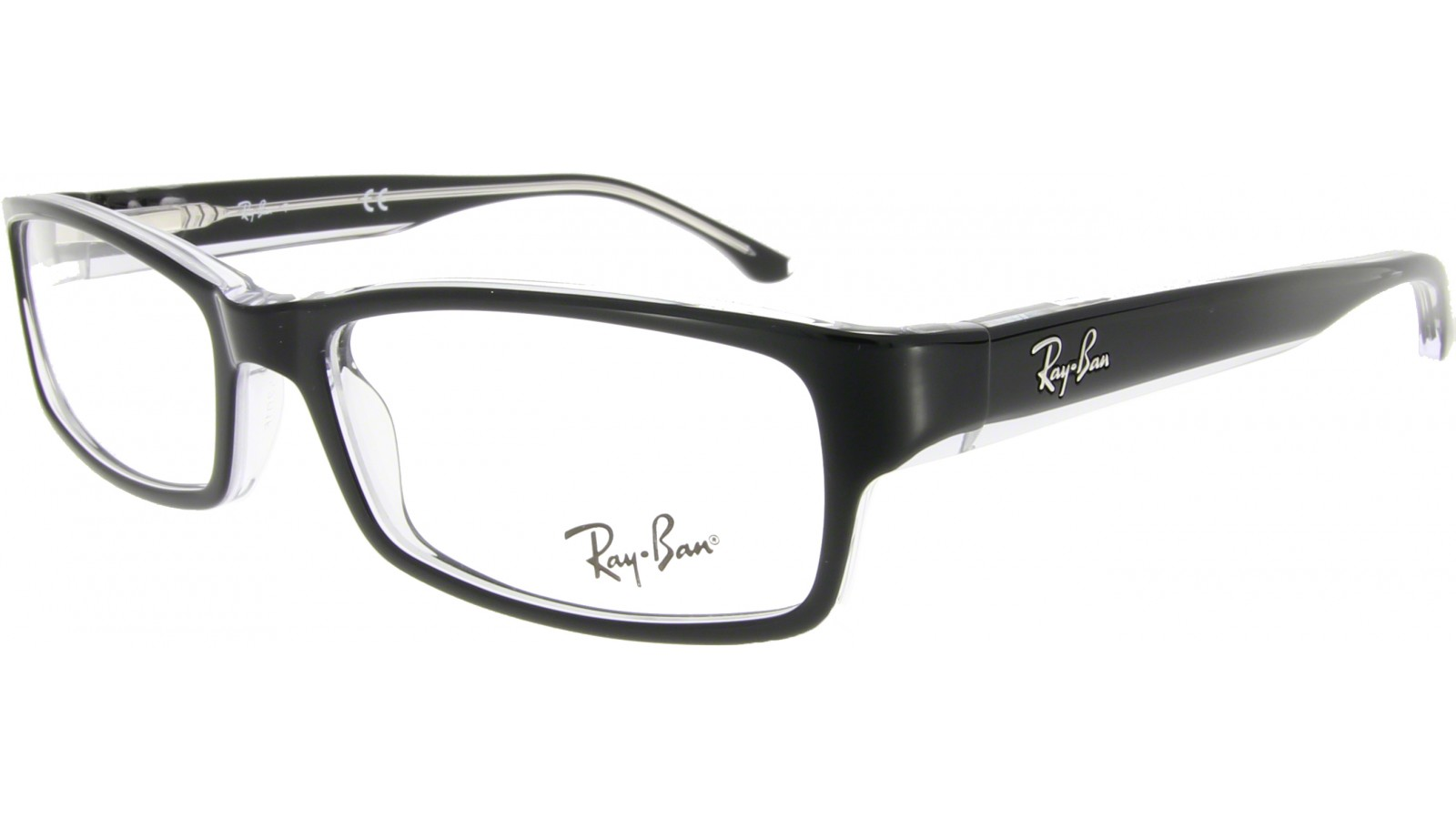 ray ban brille rot transparent