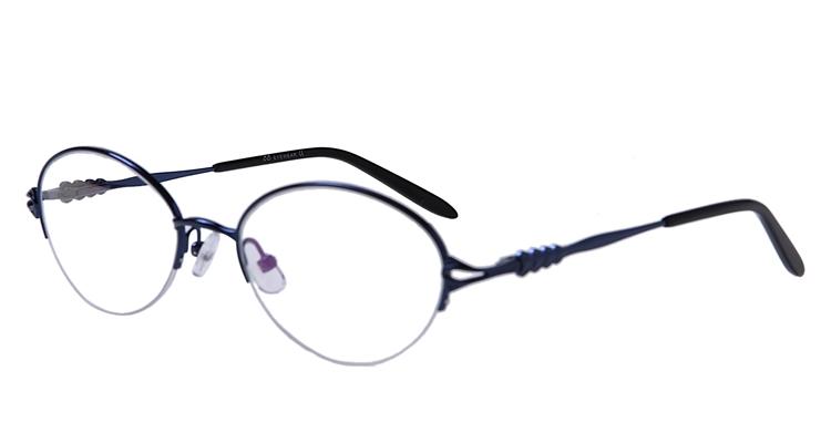 Image of Blaue Gleisicht-Halbrandbrille aus Metall