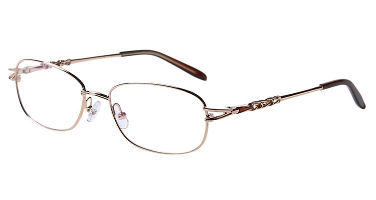 Goldene Arbeitsplatzbrille aus Metall - Vollrand