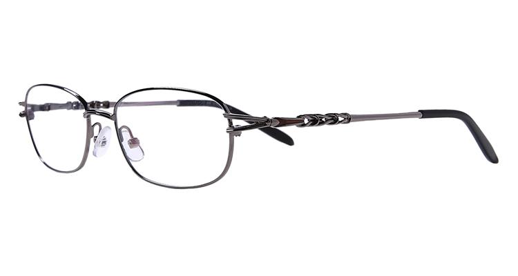 Graue Arbeitsplatzbrille aus Metall - Vollrand