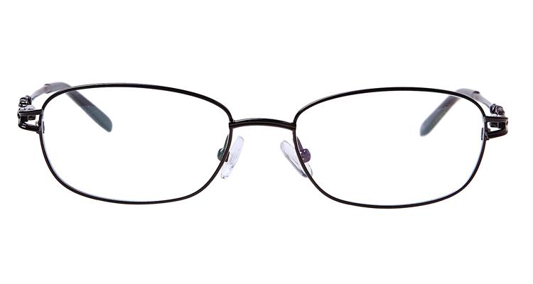 Braune Arbeitsplatzbrille aus Metall - Vollrand
