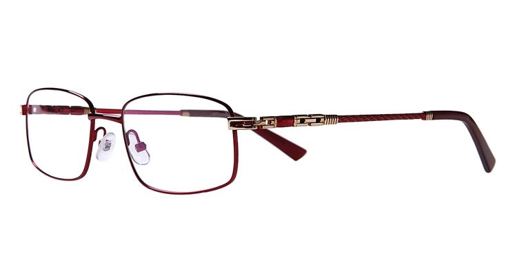 Rote Arbeitsplatzvollrandbrille aus Metall