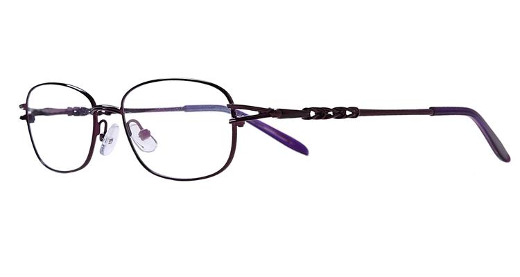 Lila Arbeitsplatzbrille aus Metall - Vollrand