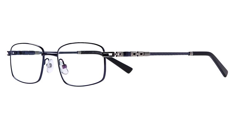 Blaue Arbeitsplatzvollrandbrille aus Metall