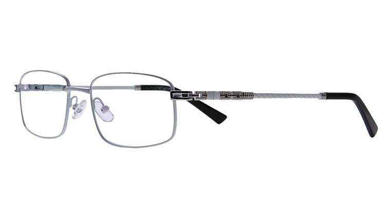Weiße Arbeitsplatzvollrandbrille aus Metall