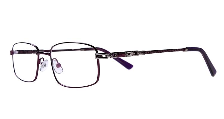 Lila Arbeitsplatzvollrandbrille aus Metall