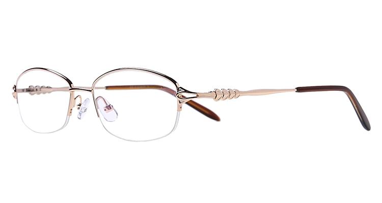 Halbrand Arbeitsplatzbrille aus Metall in Gold
