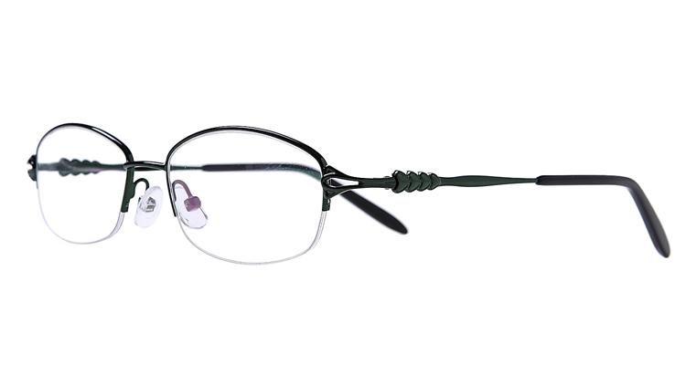 Halbrand Arbeitsplatzbrille aus Metall in Grün