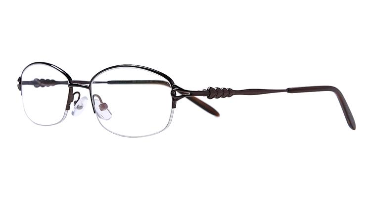 Halbrand Arbeitsplatzbrille aus Metall in Braun
