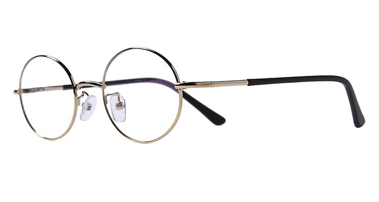 Panto-Arbeitsplatzbrille aus Metall in Gold