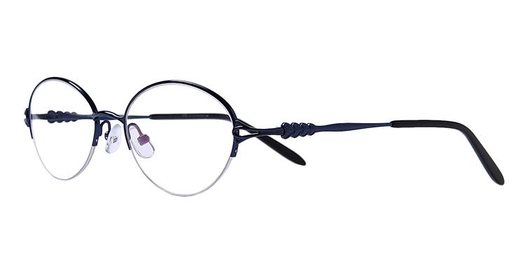 Blaue Arbeitsplatz-Halbrandbrille aus Metall