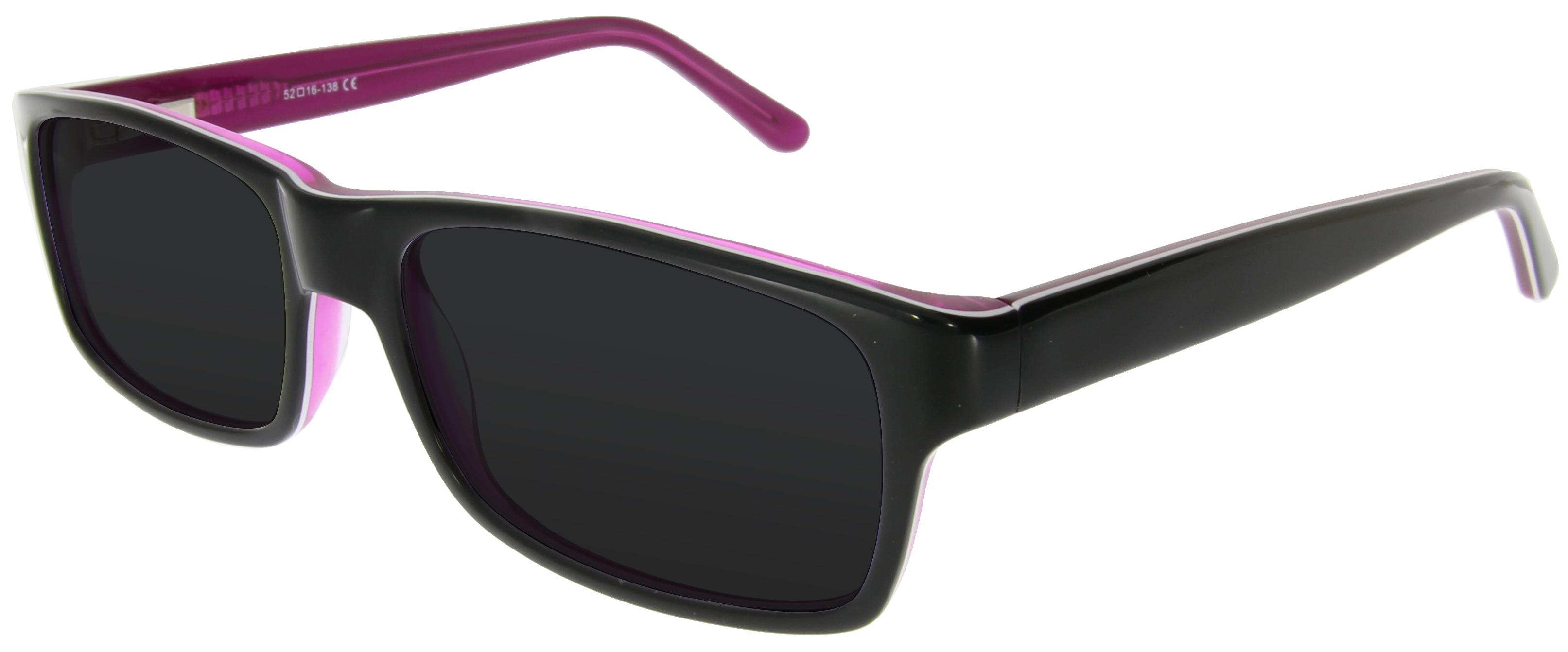 Damen Sonnenbrille in Schwarz und Pink
