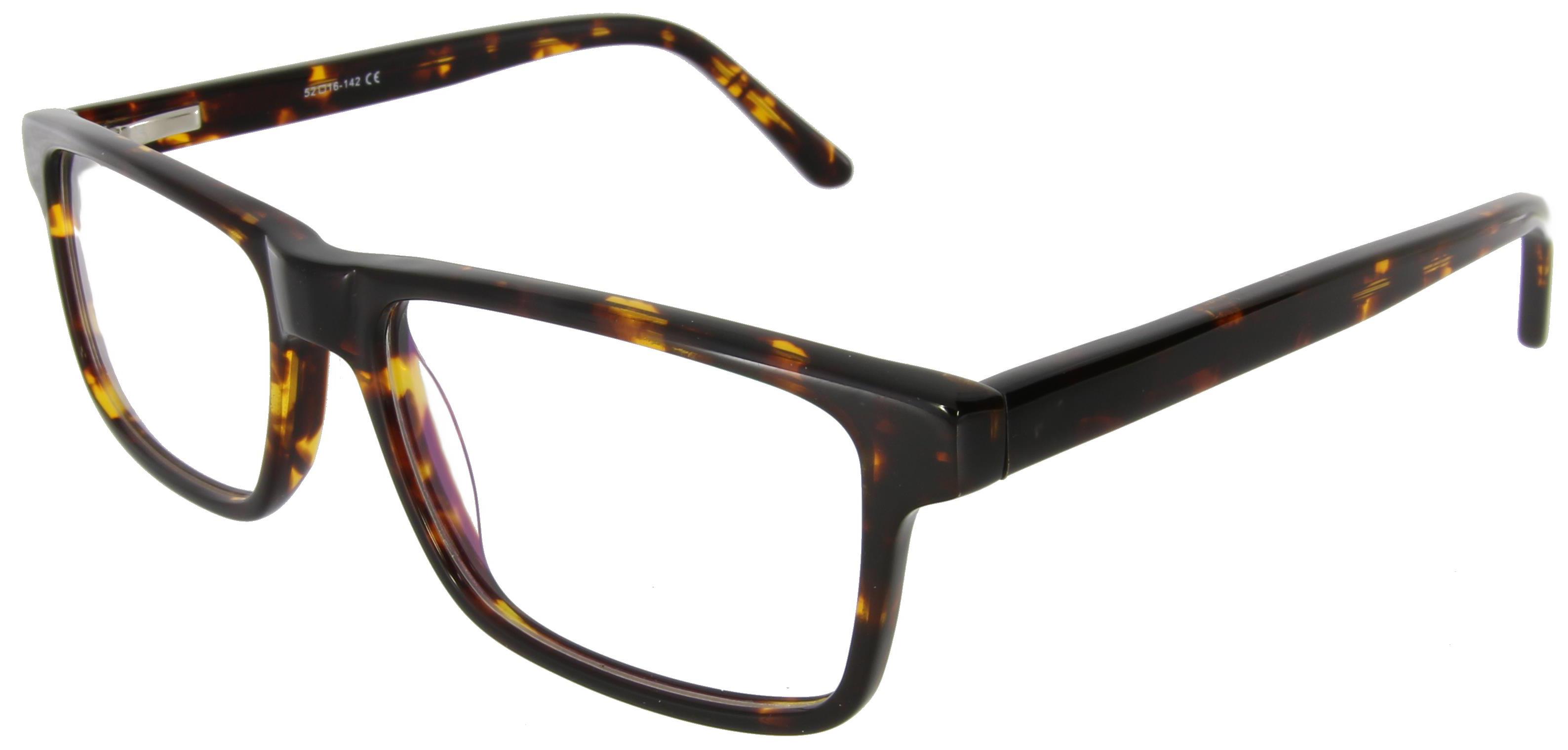 Markante Vollrandbrille in Schildpattoptik