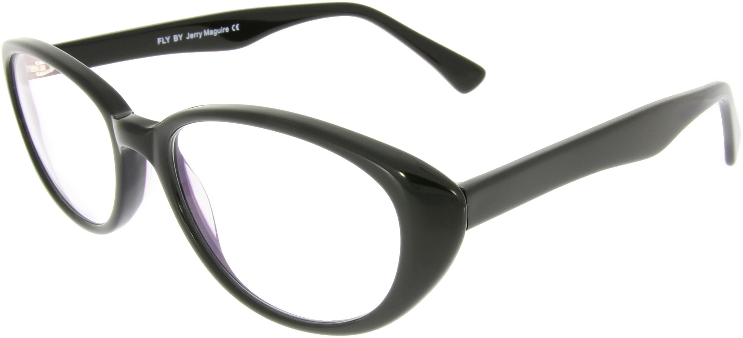 Schwarze Arbeitsplatzbrille mit Cat-Eyes