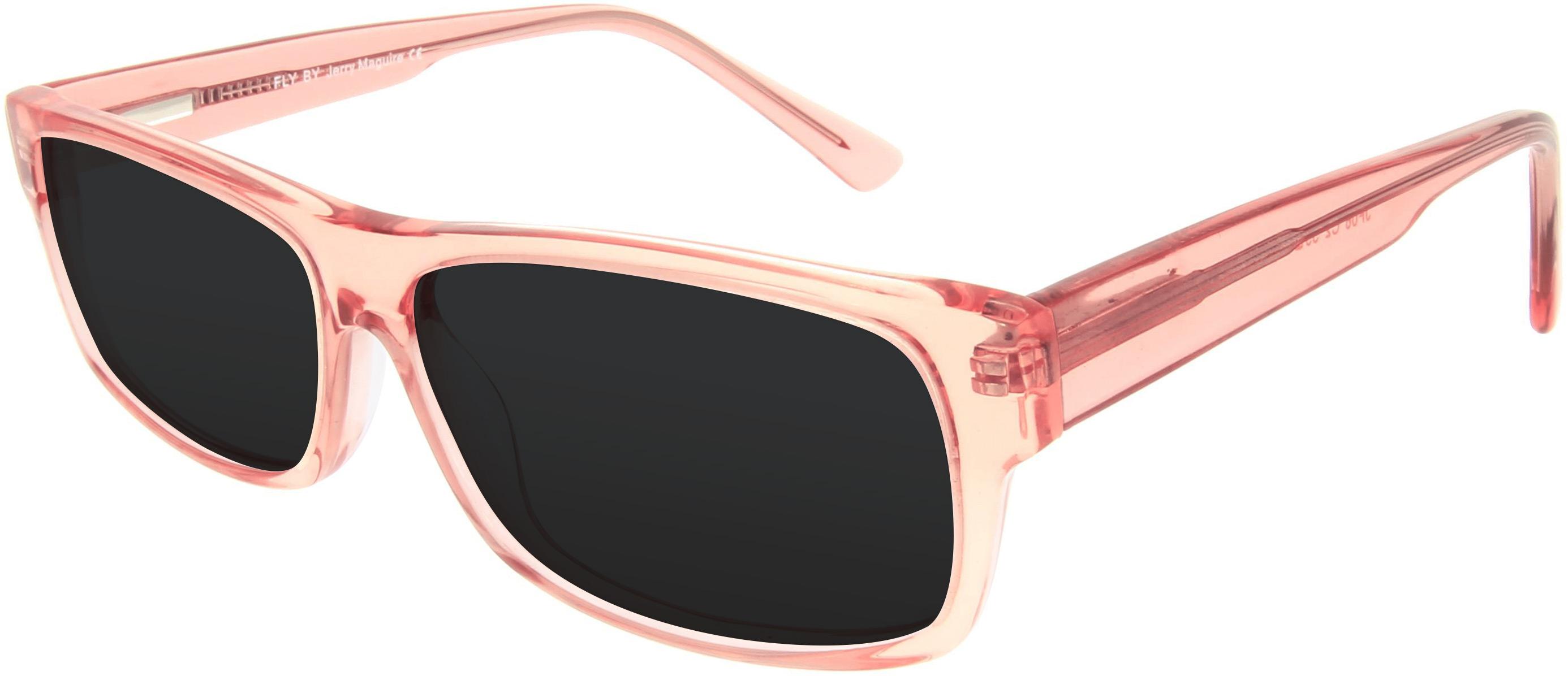 Sonnenbrille in hellem Lachs-Rosa