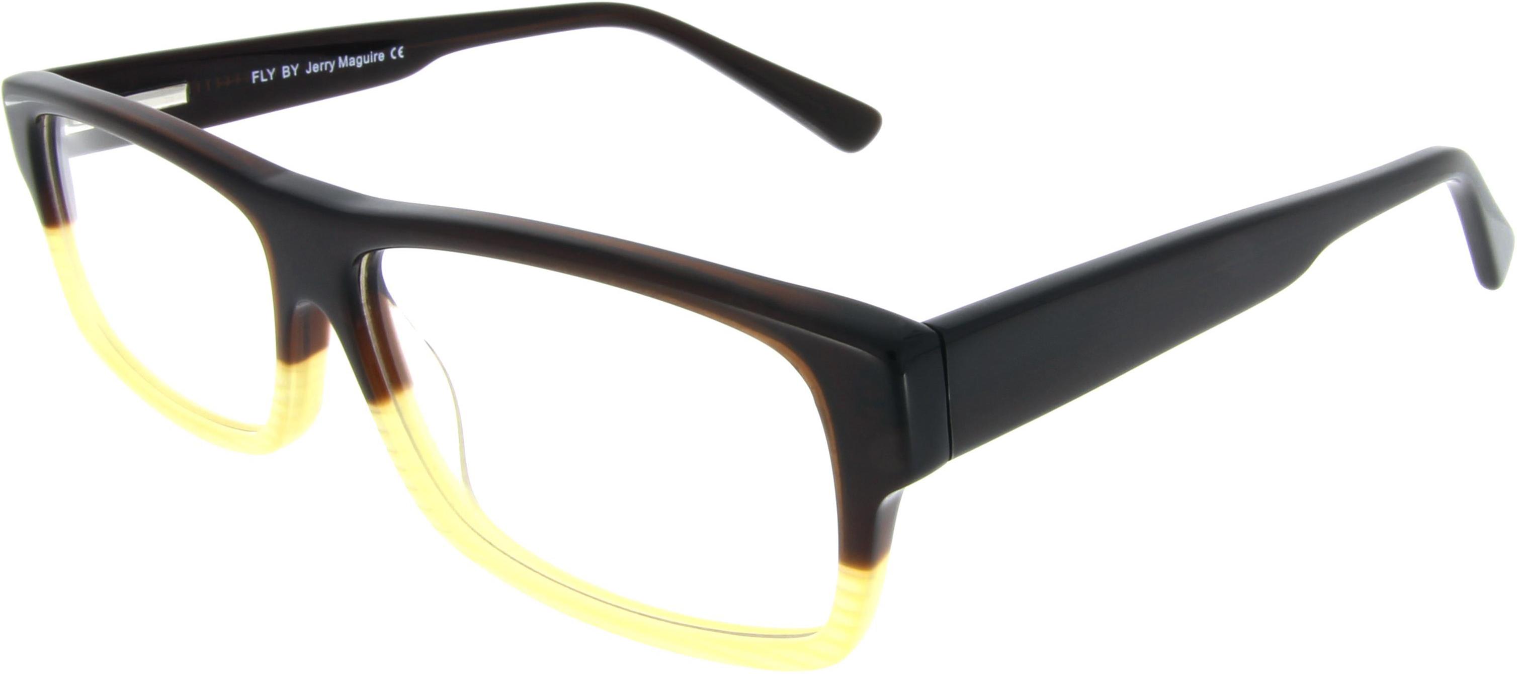 Kastenförmige Two-Tone Brille zum Top-Preis!