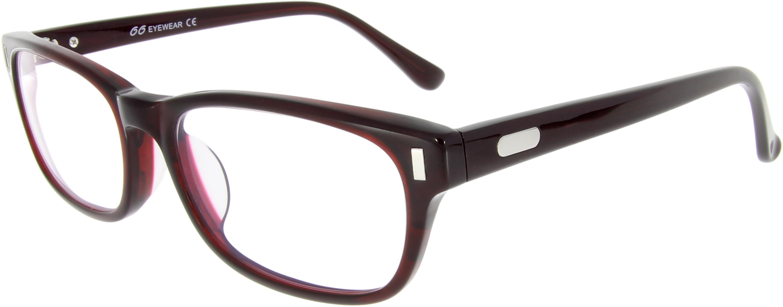 Vorschaubild von Kastenförmige Brille in Tiefdunkelrot