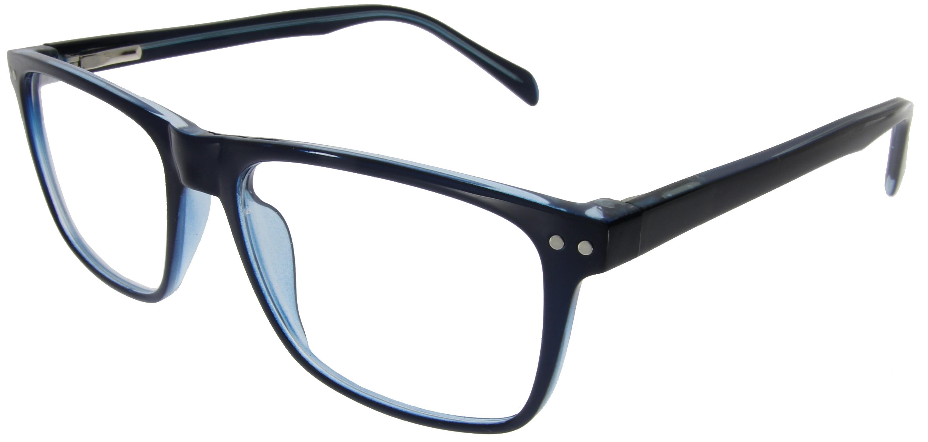 Unisex Arbeitsplatzbrille in Blau mit Vollranda...