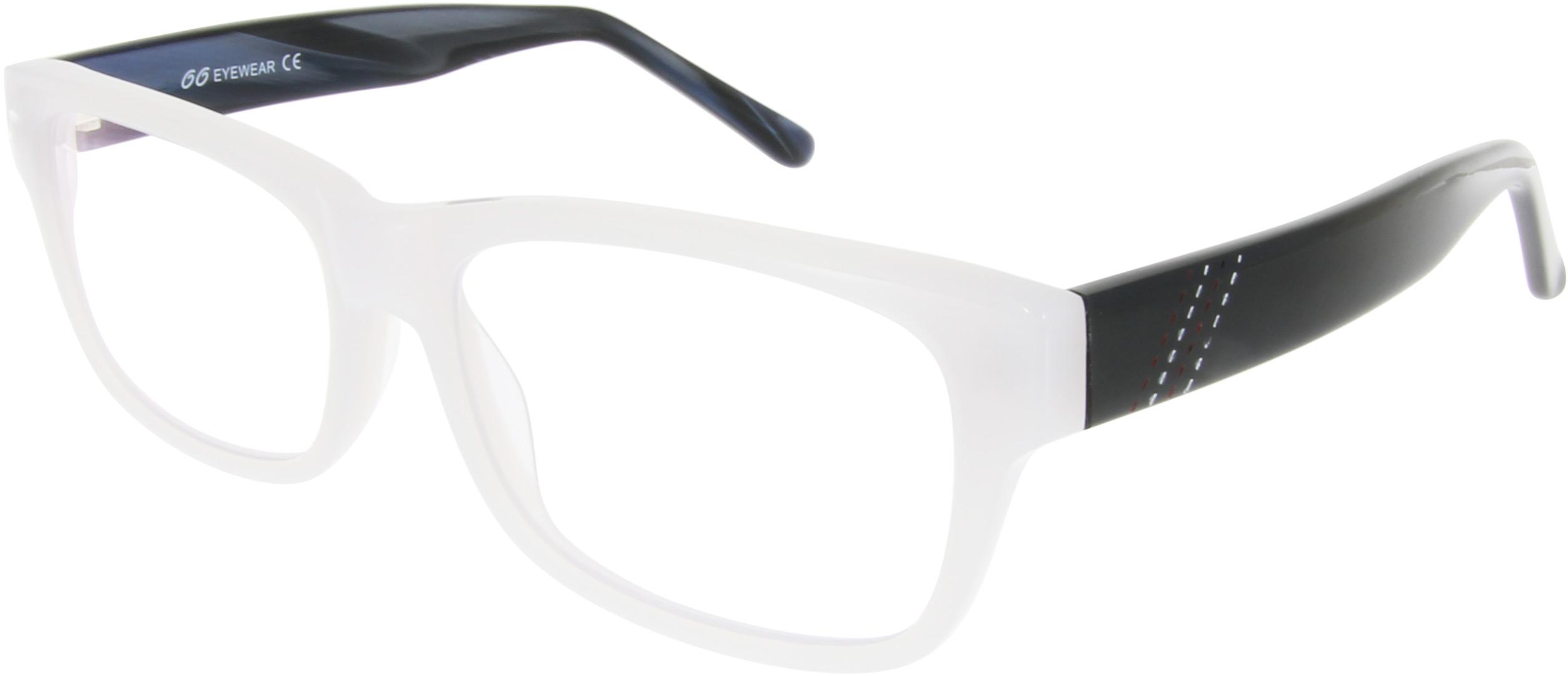 Extravagante Vollrand-Brille in weiß mit schwar...