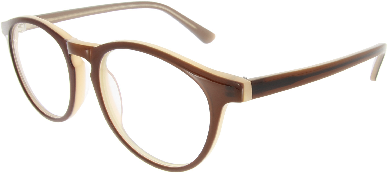 Dünne Vollrandbrille mit runden Gläsern