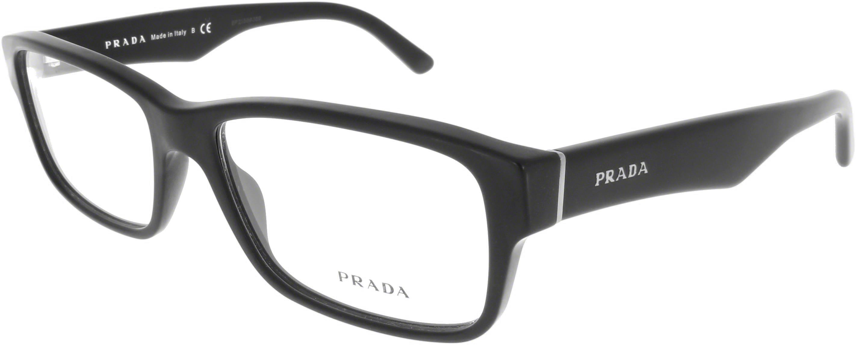 Prada schwarze Unisex Brille PR 16MC 1BO 55 n3u6IhF