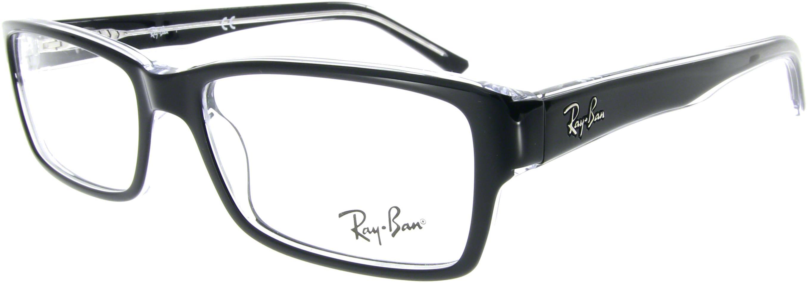 ray ban brille schwarz transparent. Black Bedroom Furniture Sets. Home Design Ideas