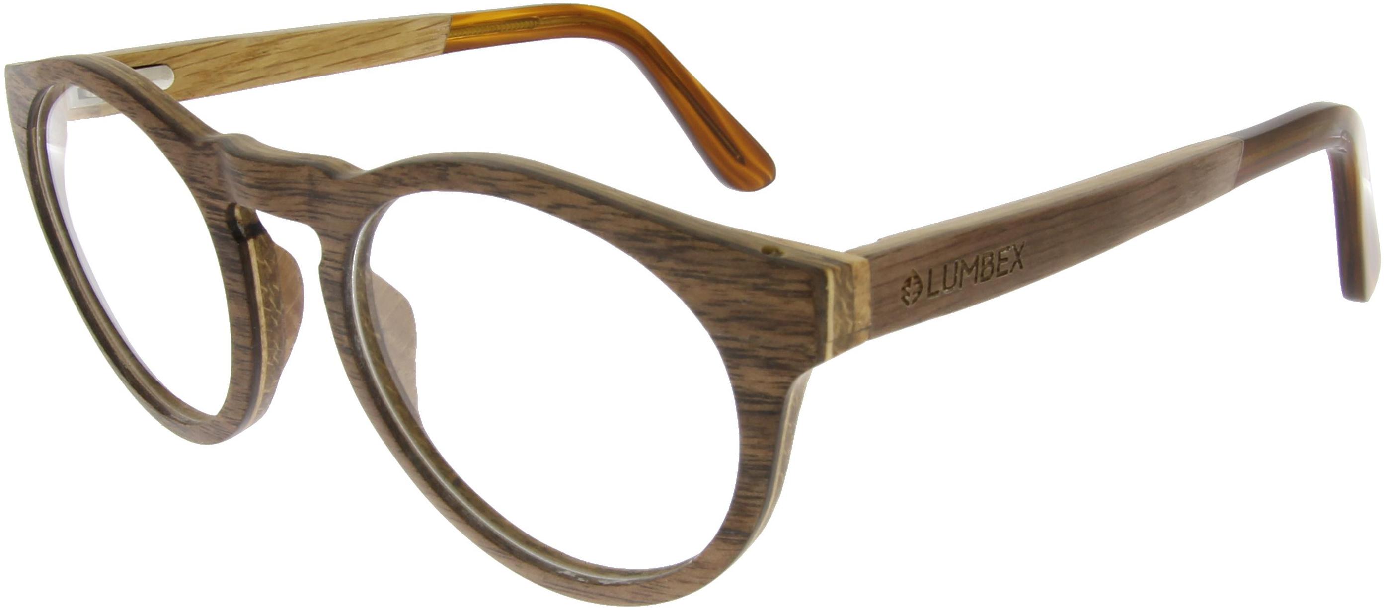 Vorschaubild von Hellbraune Brille aus Walnussholz
