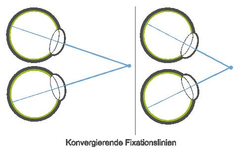 Konvergenz der Fixationslinien