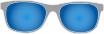 85% blau/grau Verspiegelung