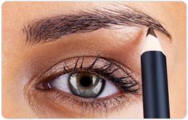 Augenbrauen mit Brille schminken