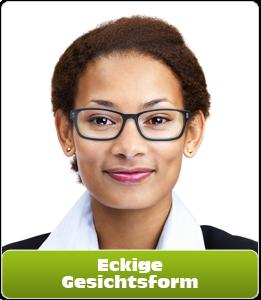 Eckige Gesichtsform für Brillen