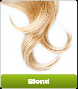 Blonde Haare mit Brille