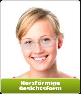 Herzförmige Gesichtsform für Brillen